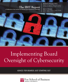 The IBIT Report Implementing Board Oversight of Cybersecurity 2016