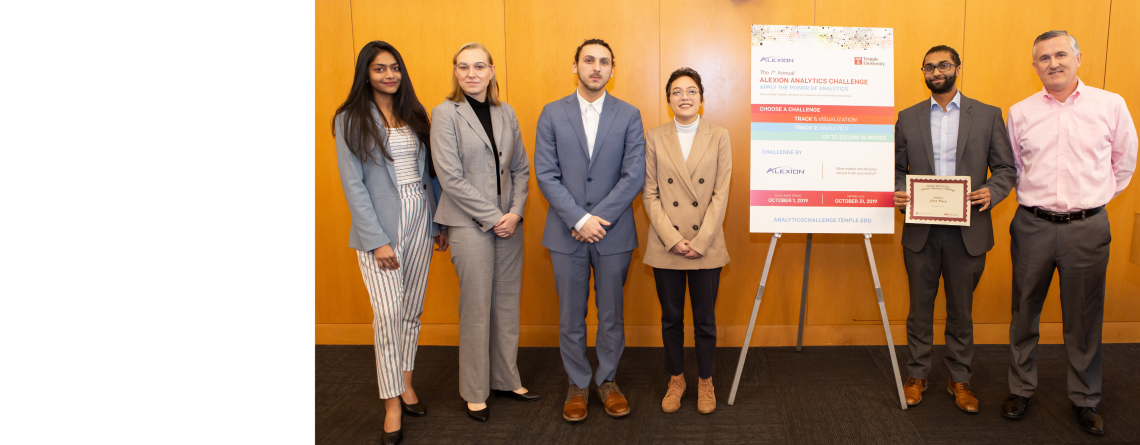 Students showcase data visualization and analysis skills at the Alexion Analytics Challenge